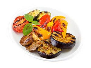 Гарниры из овощей на углях